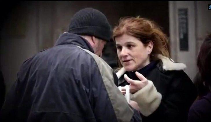 жена и бездомник