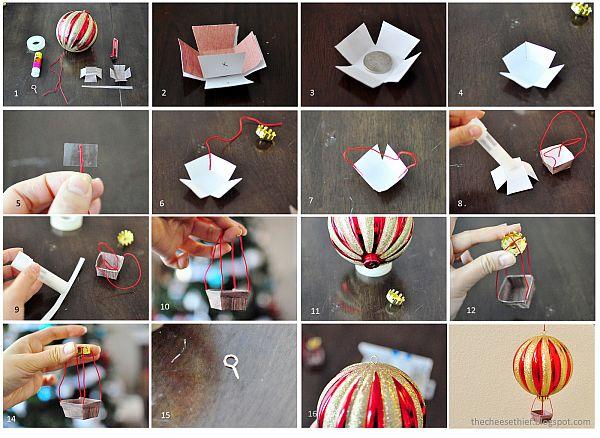 как се прави играчка за елха балон