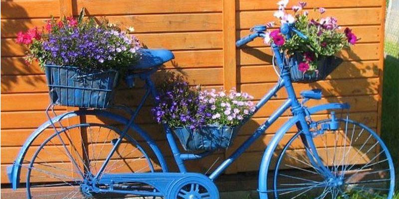 кашпа от старото колело