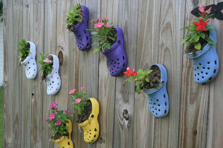 цветни лехи от чехли
