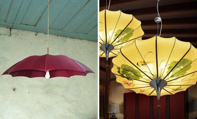 абажур от чадър