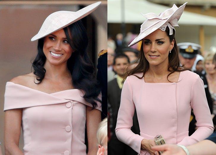 Кейт и Меган елегантни шапки