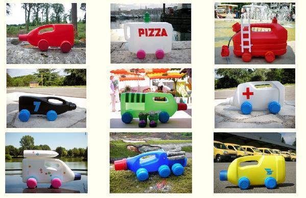 играчки от празни контейнери