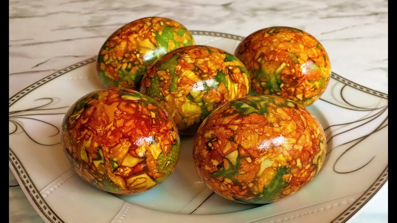 красиви яйца с лучени люспи