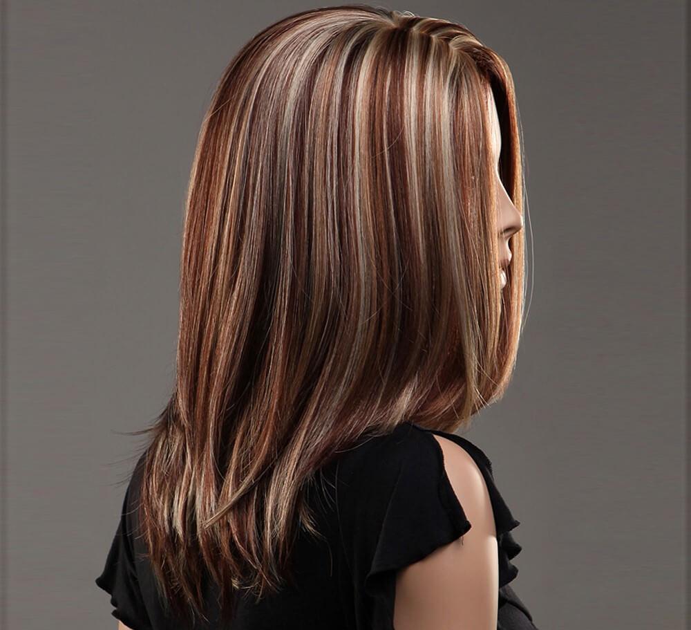 красиви кичури на тъмна коса