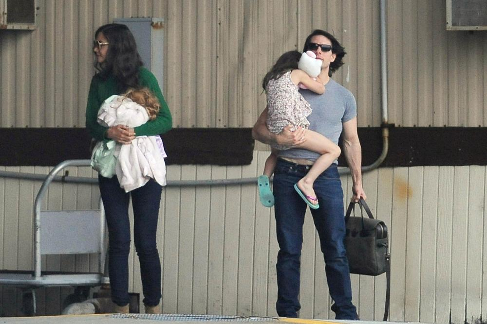 Том Круз с децата си