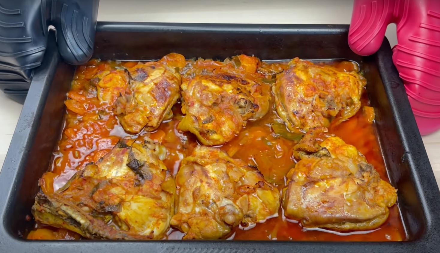пиле в сос