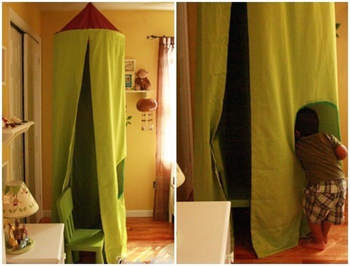 палатка от стар чадър