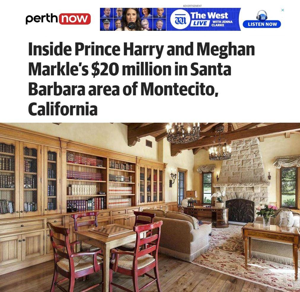 имението на Меган и Хари трапезария