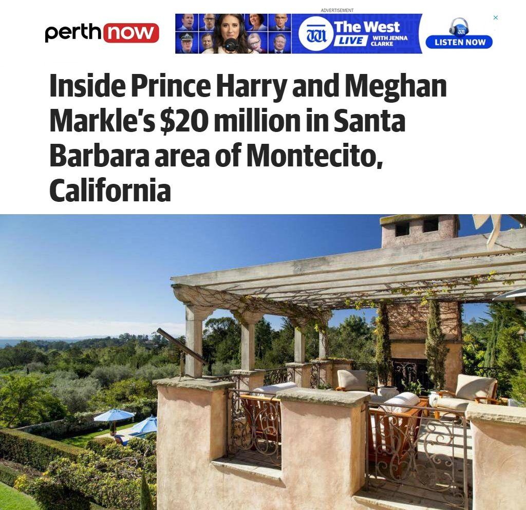 имението на Меган и Хари тераса