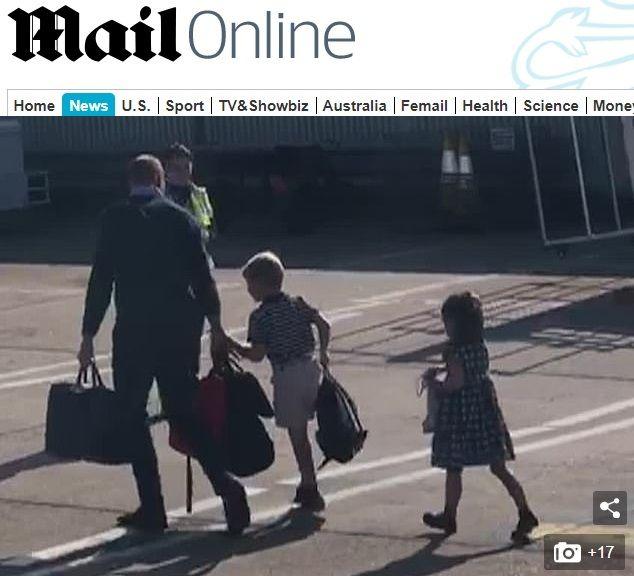 Кейт и Уилям с децата