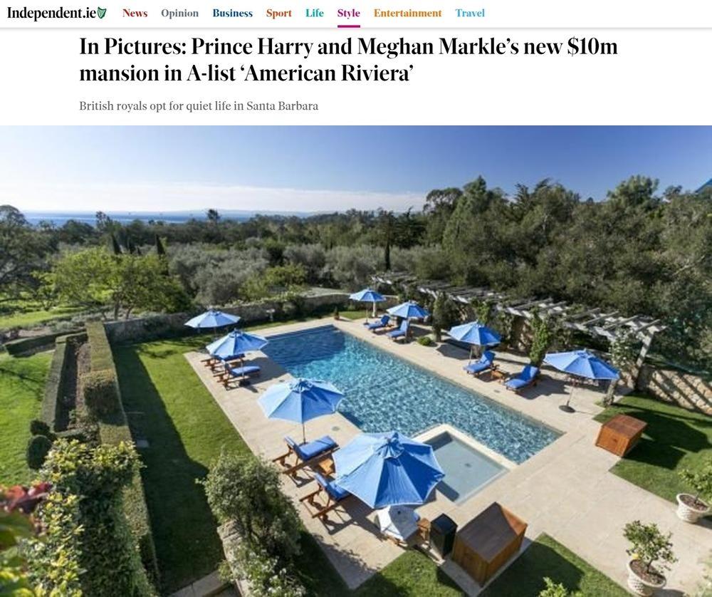Меган и Хари ново имение