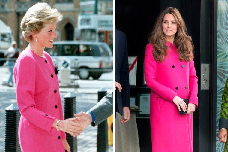 Кейт и Даяна в розово