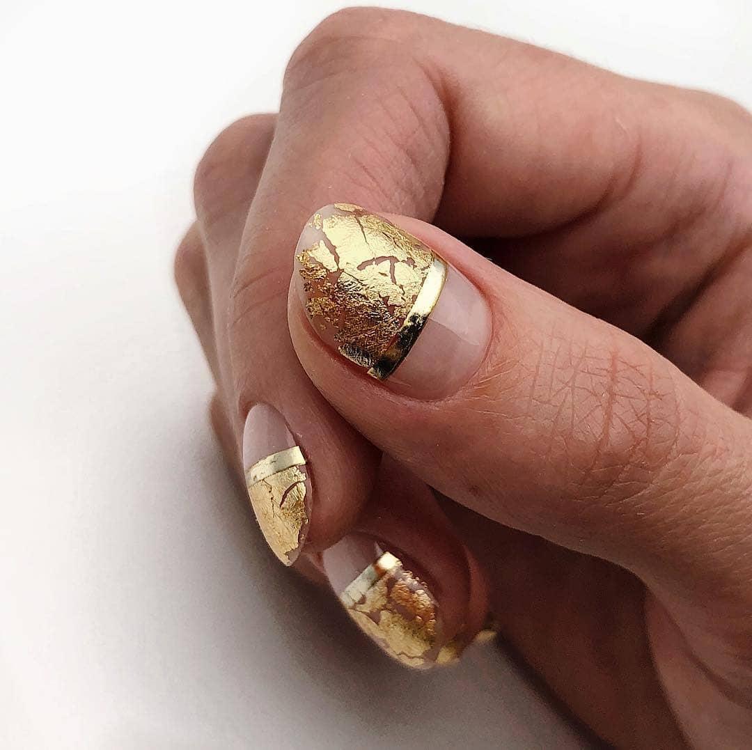 златен френч с фолио