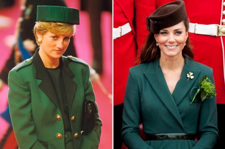 Кейт и Даяна в зелено