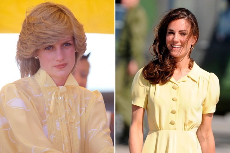 Кейт и Даяна в жълто