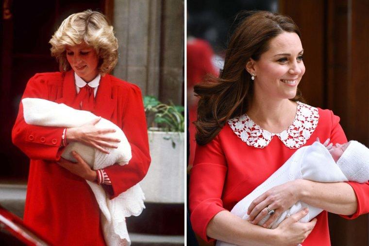 Кейт и Даяна след раждането