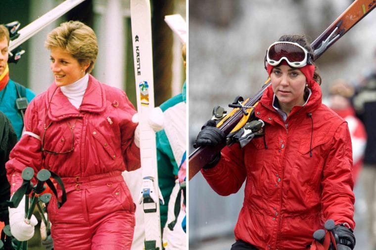 Кейт и Даяна на ски