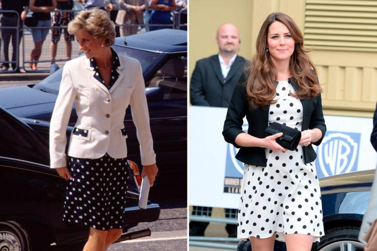 Кейт и Даяна в рокля на точки