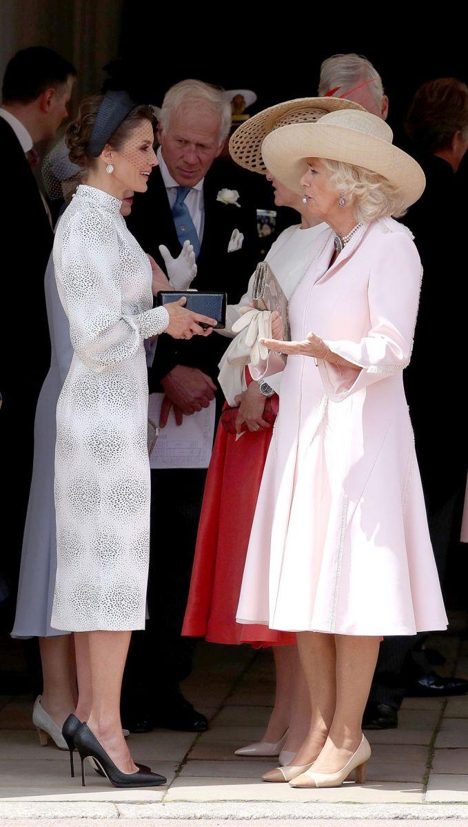 Камила с кралица Летисия