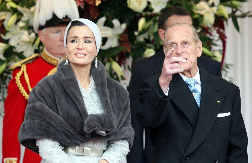 Шейха Моза с принц Филип