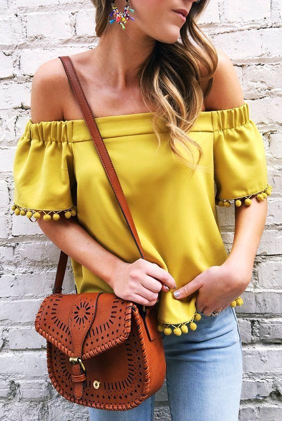 блуза в жълто