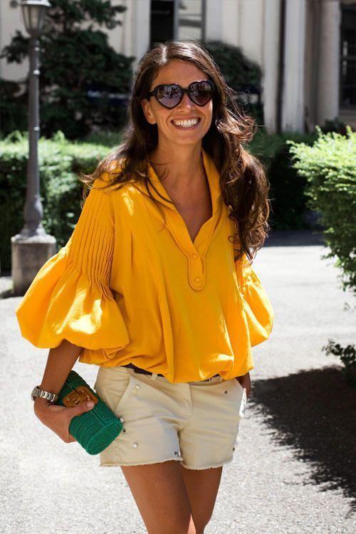наситеножълта блуза