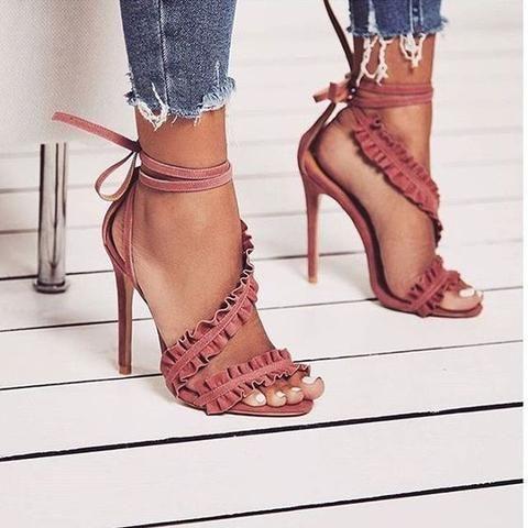 сандали в пепеливо розово