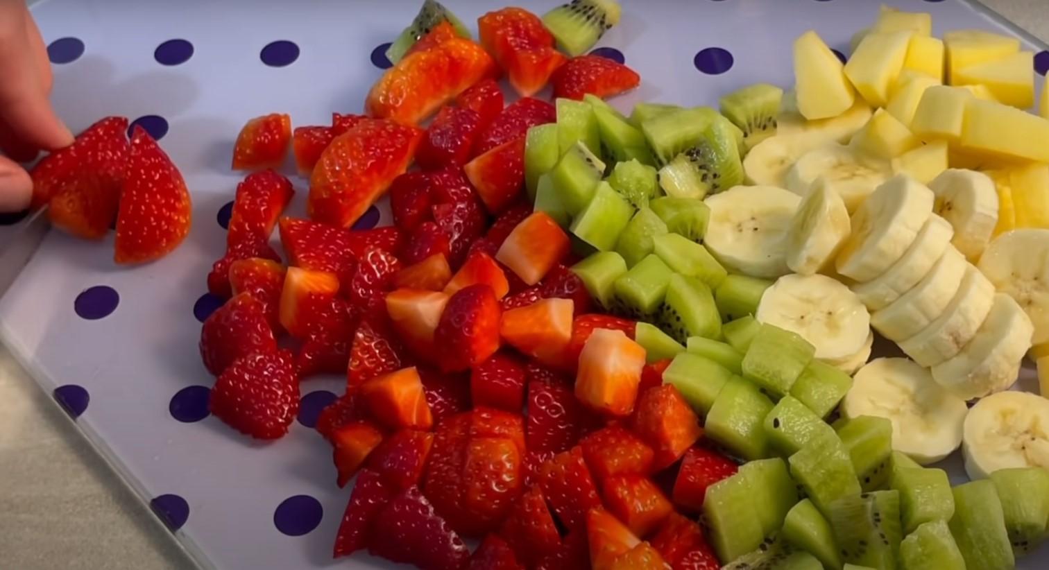 нарязани плодове