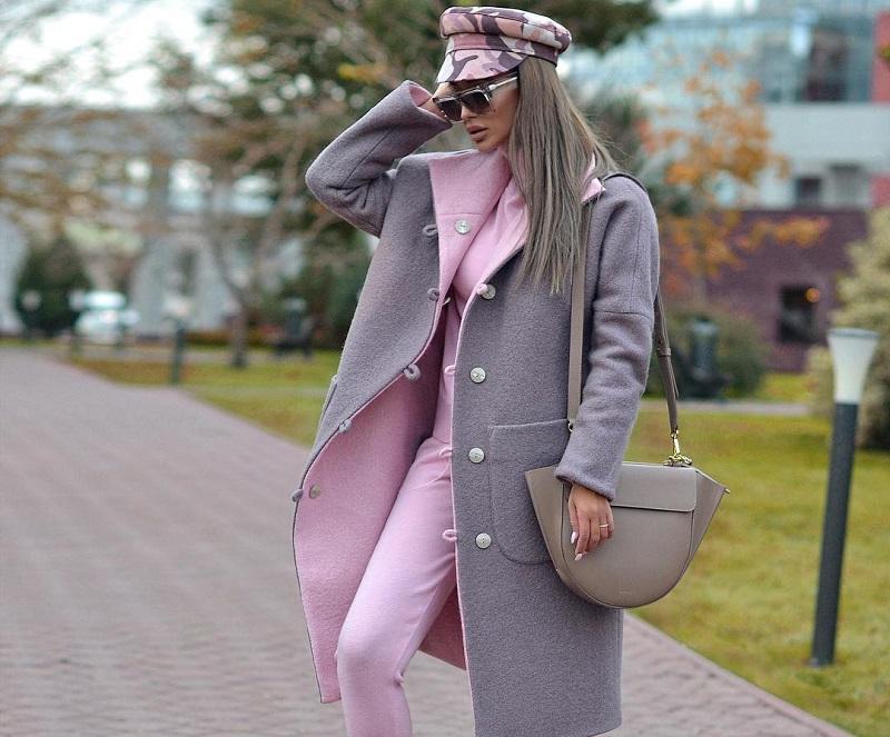 нежно сиво палто