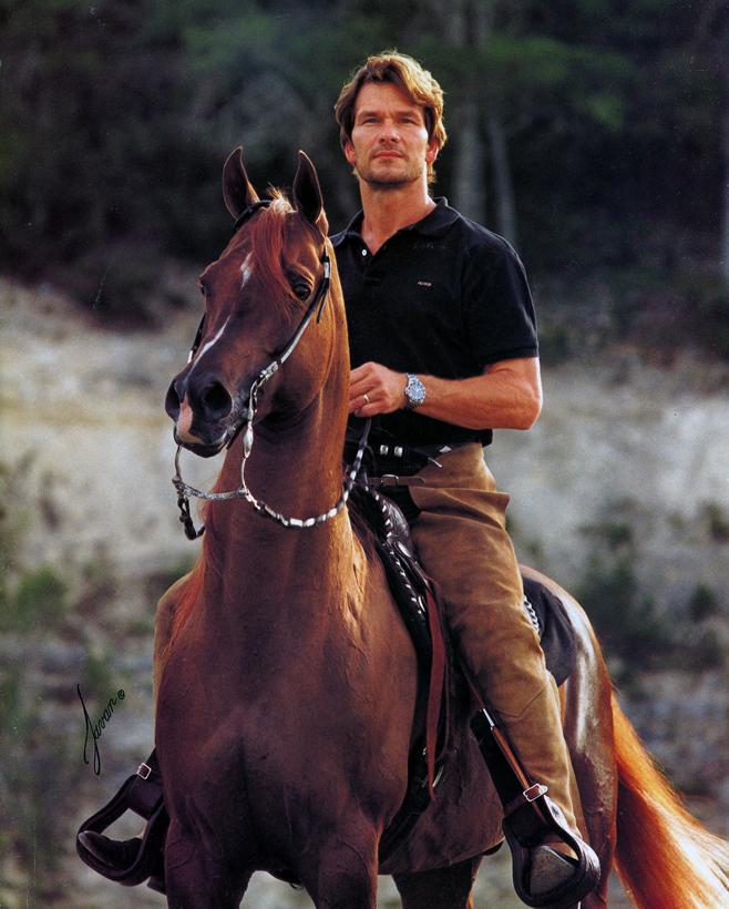 Патрик Суейзи на кон