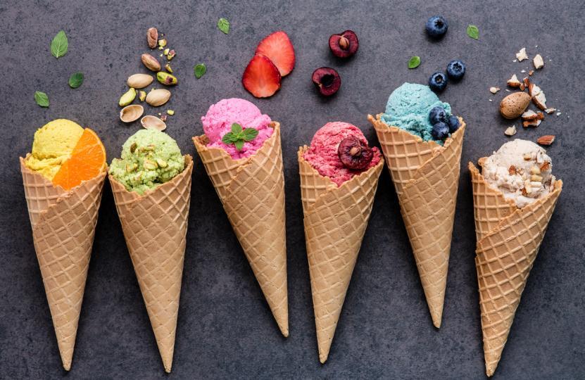 разноцветен сладолед