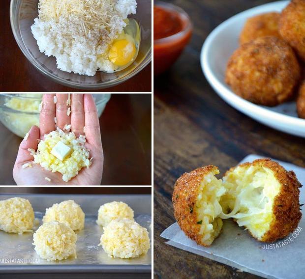 оризови топки с моцарела
