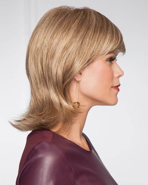 стилна прическа средна коса