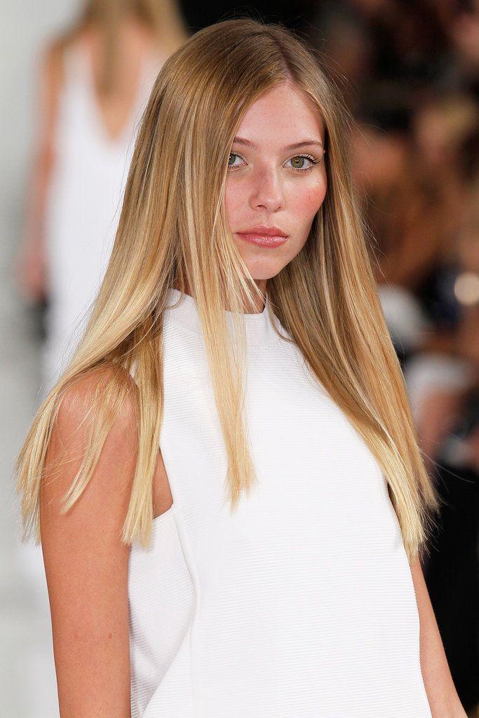 прическа дълга права коса
