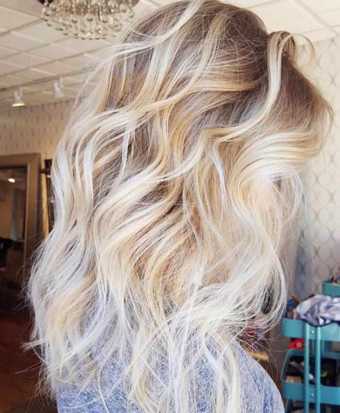техника балеаж дълга коса