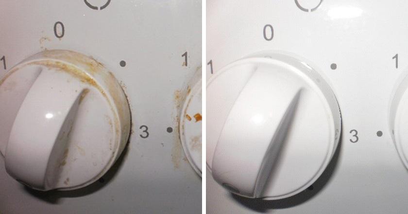 премахване на мазнини по печката