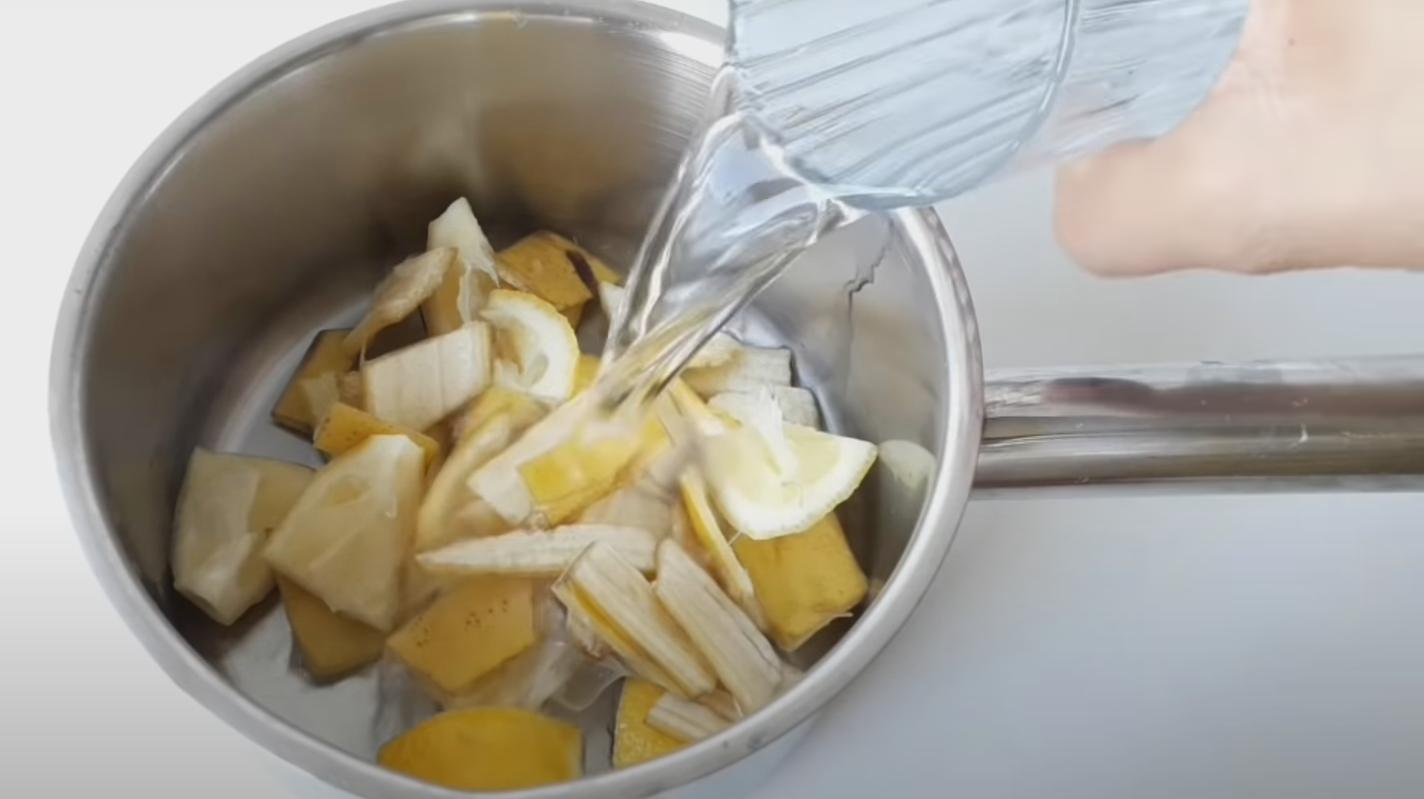 кора от лимон и банан