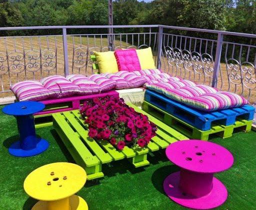 цветни градински мебели направи си сам