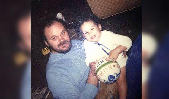 Меган с баща си