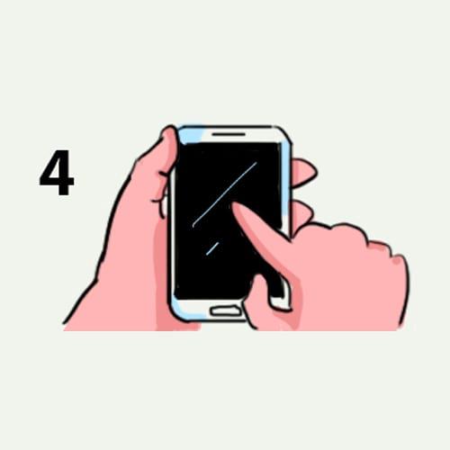 как държиш мобилния