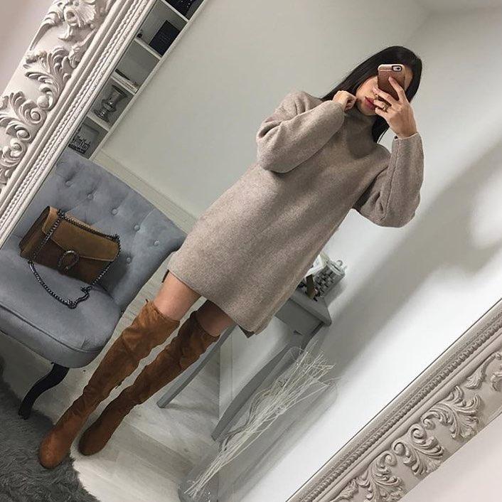 мини рокля плетена