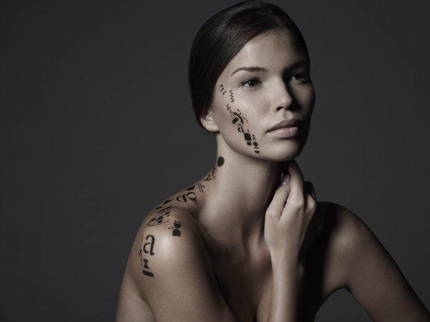 Красива графика за лице и тяло