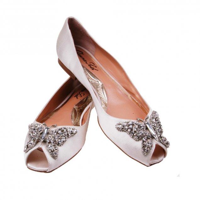 f0cbb8fdb33 Младоженски обувки бели с отворен пръст - За Жената