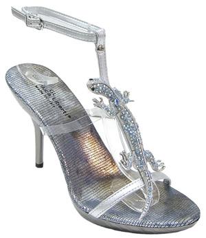Секси дамски обувки с гущер