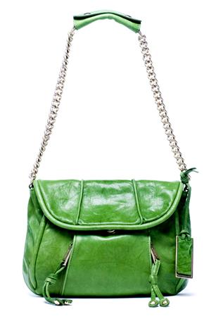 Тревисто зелена чанта малка с дръжка