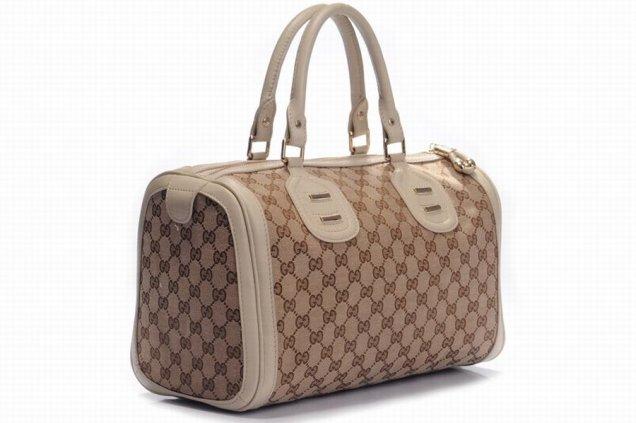 1f930359503 Gucci чанта тип куфарче бежови кантове и дръжки - За Жената