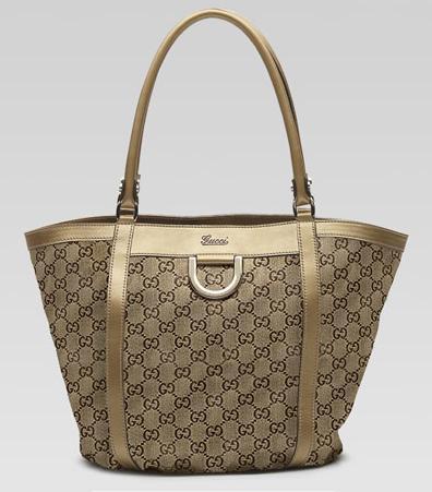 Gucci златиста средна чанта