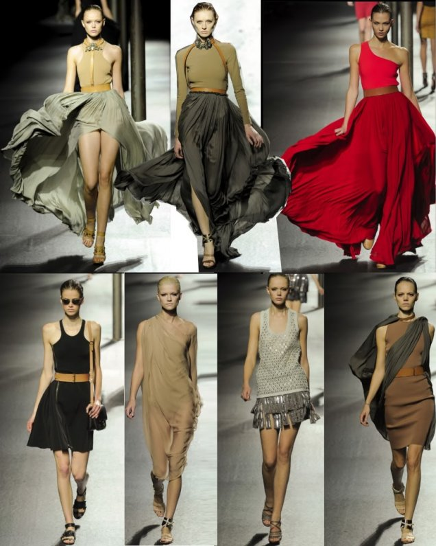 Ланвин 2011 Пролет-Лято Седмица на Модата Париж Сексапилни и Красиви Рокли