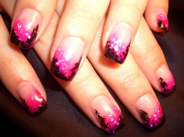 красиви нокти дизайн с лилаво